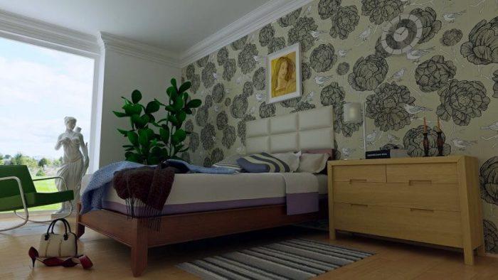 dormitor-tapet