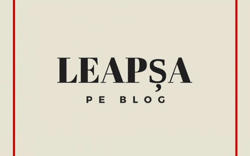leapșa pe blog