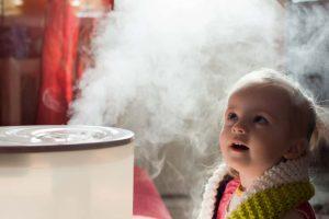 umidificator evita apariția frecventă a problemelor respiratorii la copii