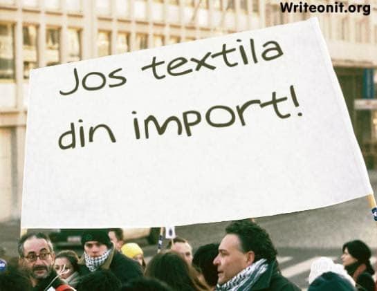 textile din import