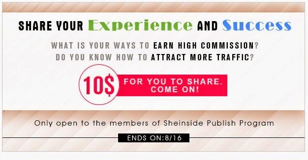 Castiga bani cu programul Sheinside Publish