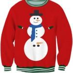 pulover cu om de zapada