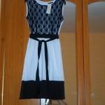 rochie alb - negru