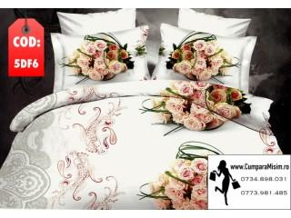 lenjerie de pat cu trandafiri
