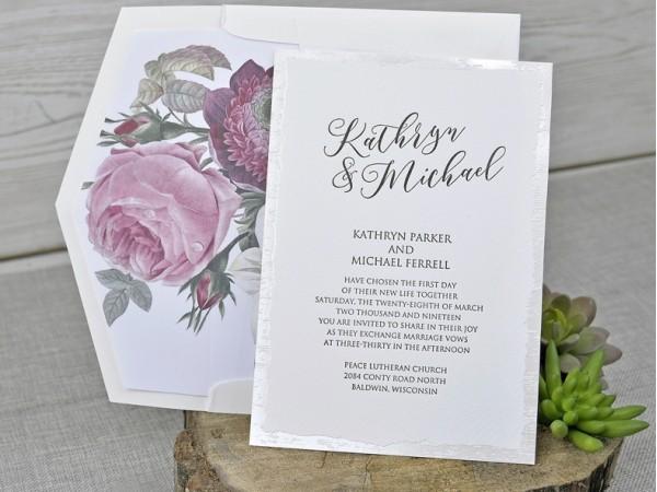 invitație model floral