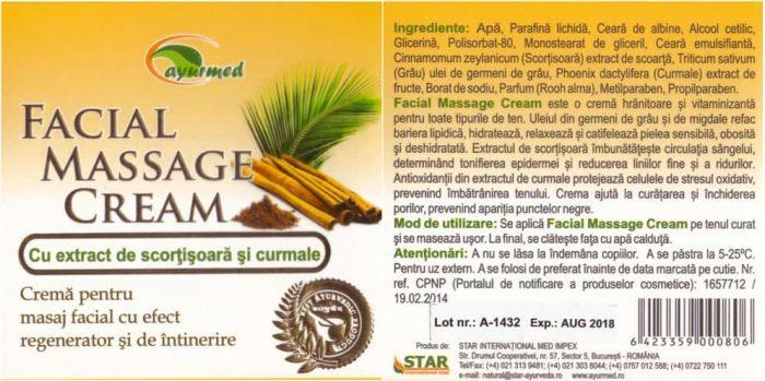 crema masaj facial ayurmed