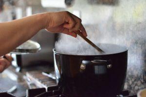 gătitul pe timp de vară abur și căldură