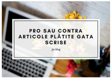 Pro sau contra articole plătite gata scrise