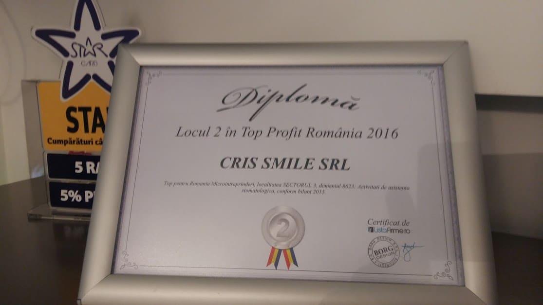diploma cris smile cabinet stomatologic