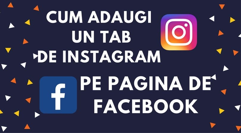 Instagram pe pagina de Facebook