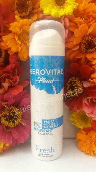 antiperspirant Gerovital Plant fara alcool si aluminiu