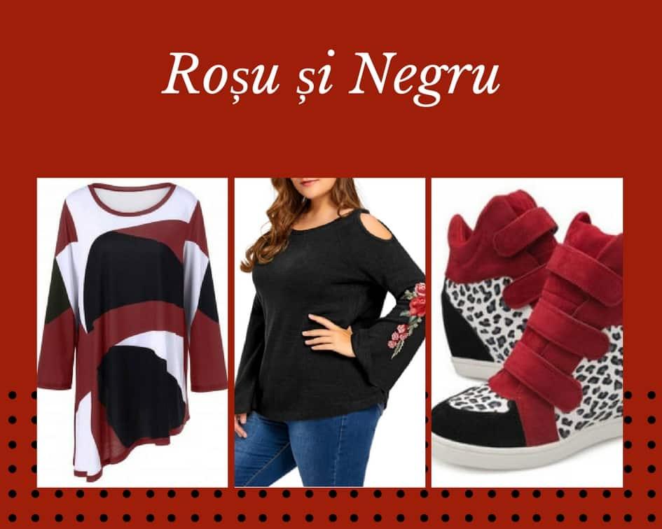 rosu si negru vestimentatie dresslily
