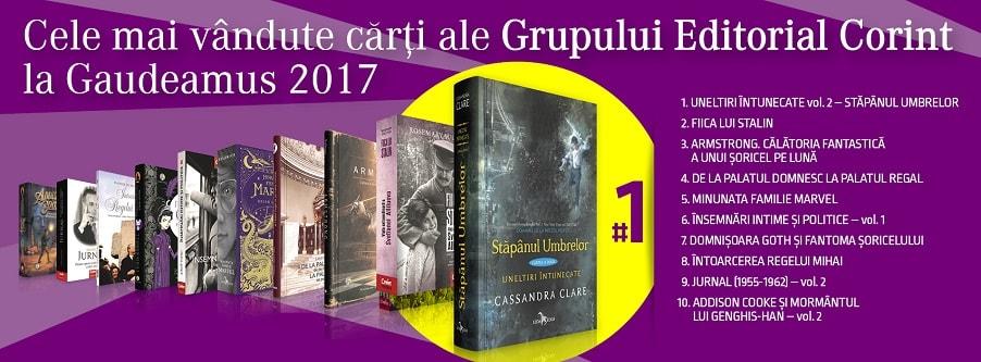 Timeline cover Top vanzari Gaudeamus 2017