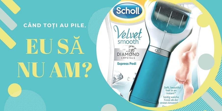 pila electronică Scholl Velvet Smooth