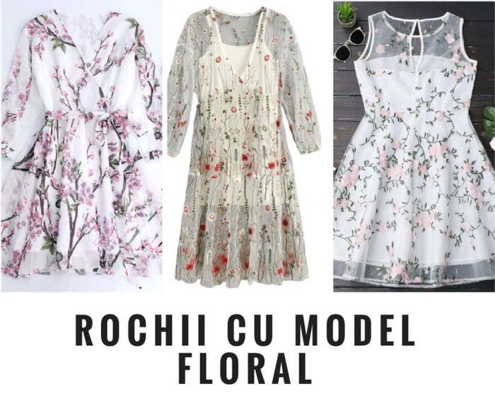 rochii cu model floral