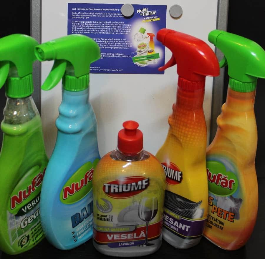 Produse pentru curățenie Farmec Nufăr și Triumf