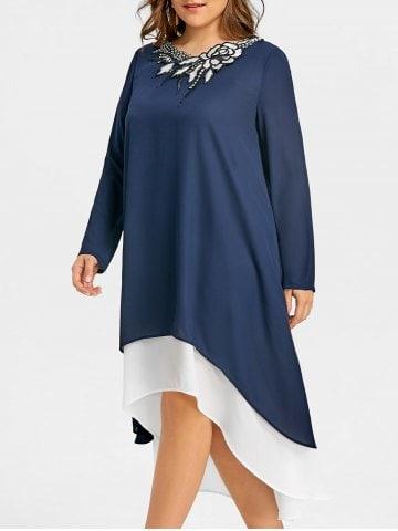 Rochia bleumarin asimetrică