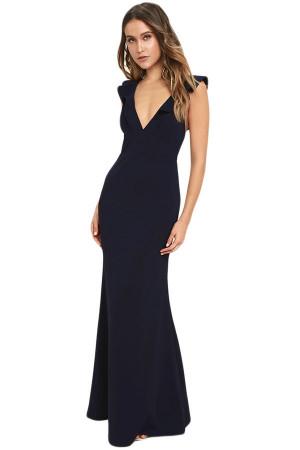 rochie neagră de seara cu decolteu in V rochii de seară sâni mici