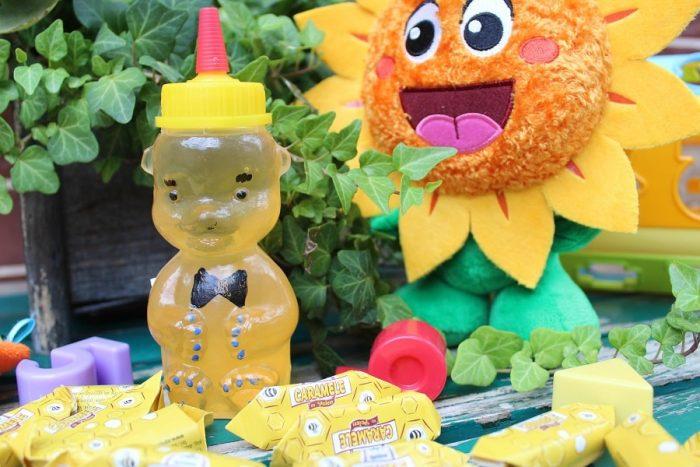 ursuleț cu miere si caramele cu polen Apidava