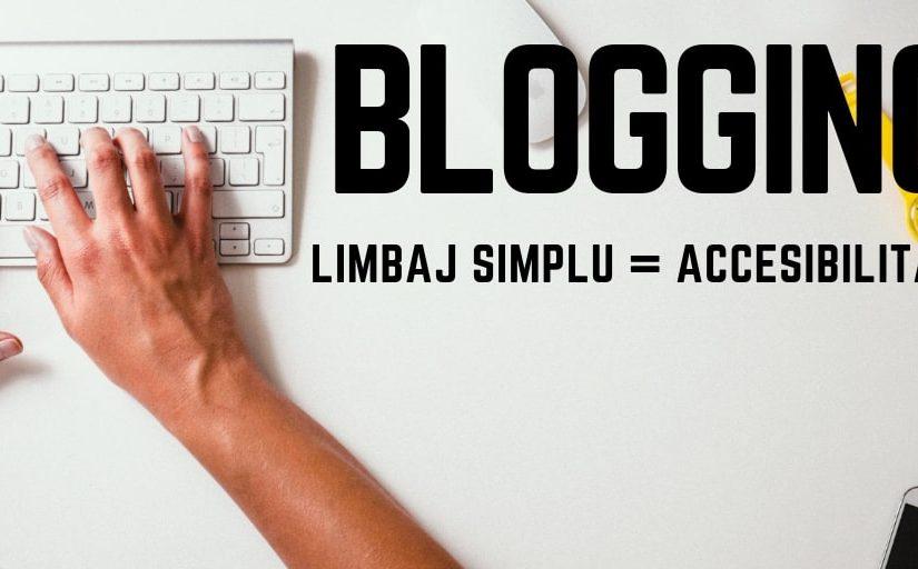 limbajul folosit pe blog