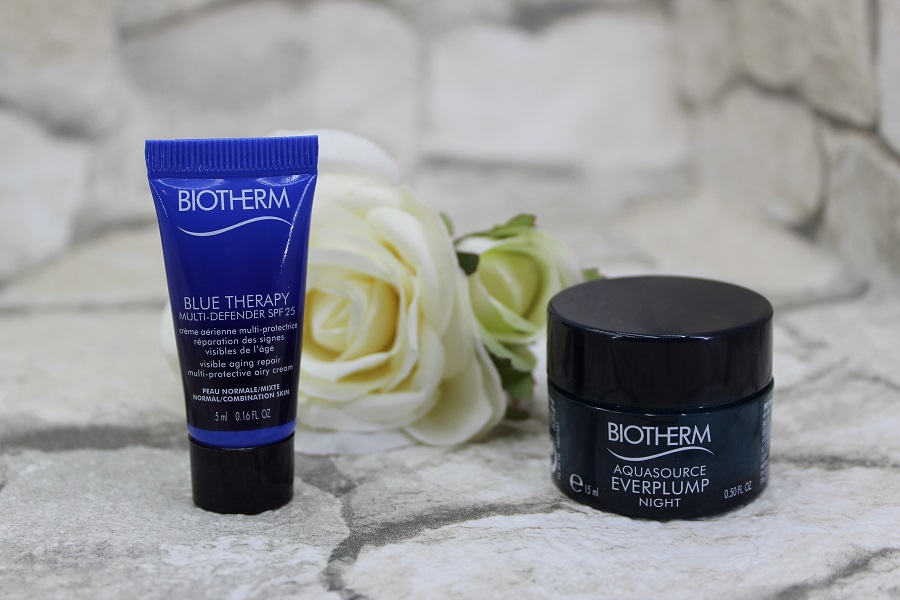 Biotherm Blue Therapy Multi Defender SPF25 și Biotherm Aquasource Everplump Night