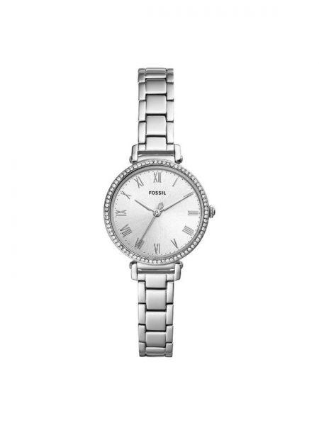 ceas dama fossil argintiu