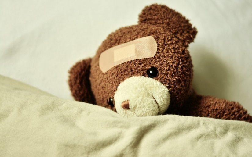 ursulet in pat