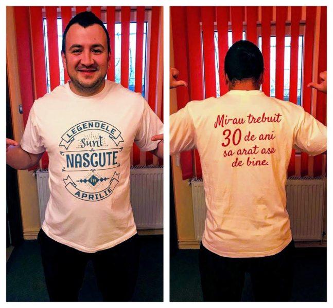 tricou personalizat legendele sunt nascute in aprilie