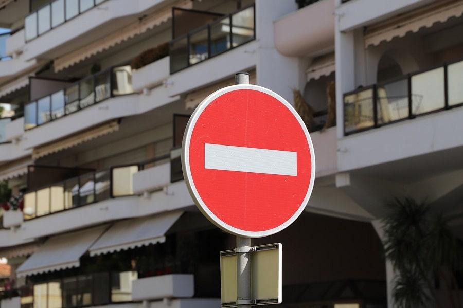 indicator acces interzis