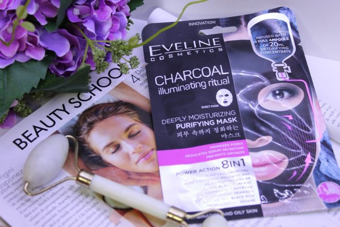 Masca-de-curatare-si-super-hidratare-Eveline-Cosmetics-Charcoal-Illuminating-Ritual