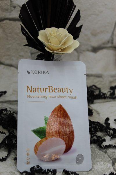 Masca textila nutritiva KORIKA NaturBeauty