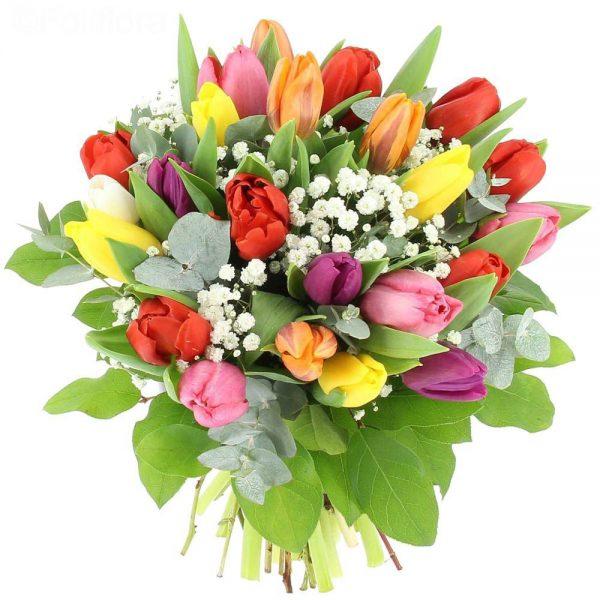 buchet-lalele-floarea-miresei