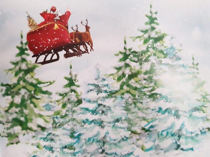 Pupo și Miți îl caută pe Moș Crăciun sania mosului