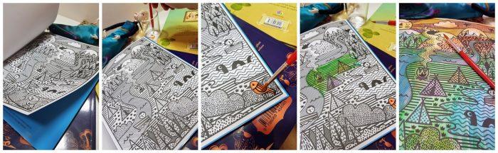 carte magica de pictat cu apă Usborne