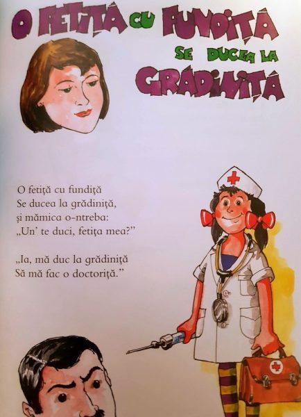 poezia o fetiță cu fundiță se ducea la grădiniță versuri