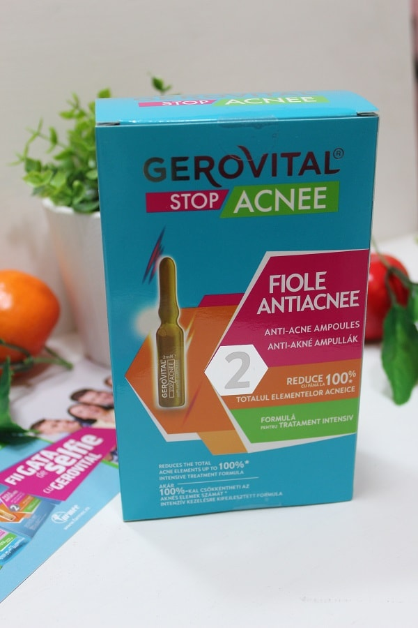 Tratament antiacneic Fiole Gerovital