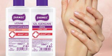 Coronavirus produse igienizante pentru mâini Farmec