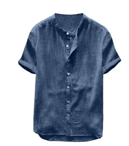 cămașă cu aspect de denim