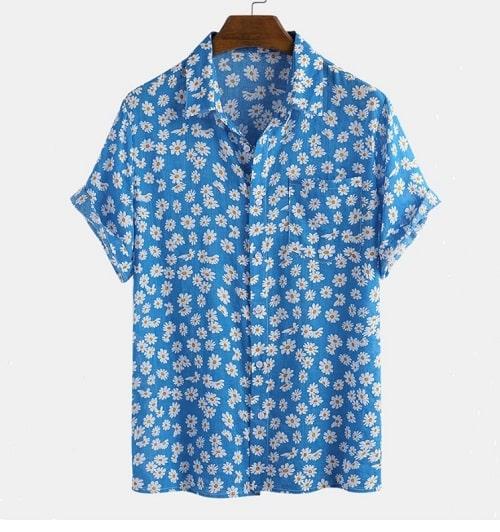 cămașă cu imprimeu floral