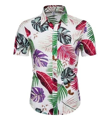 cămașă cu imprimeu tropical