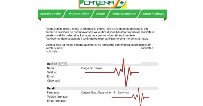 farmacia catena cerere reteta online