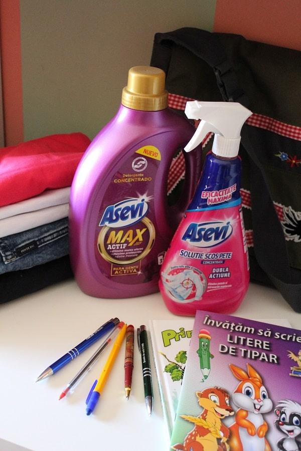 detergen Asevi Max si solutie Asevi pentru pete