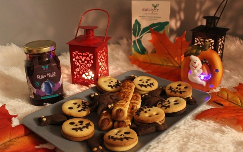 dulciuri fără zahar, pentru Halloween, cu îndulcitor natural