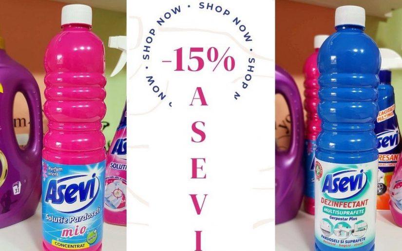 reducere produse Asevi 15% mai ieftin