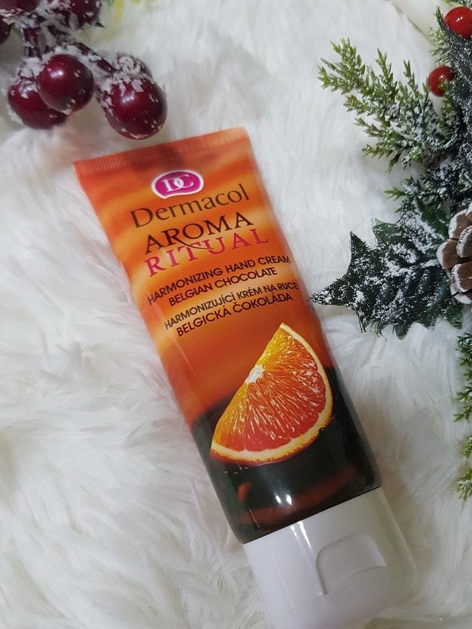 Dermacol Aroma Ritual crema de mâini cu ciocolată belgiană și portocală