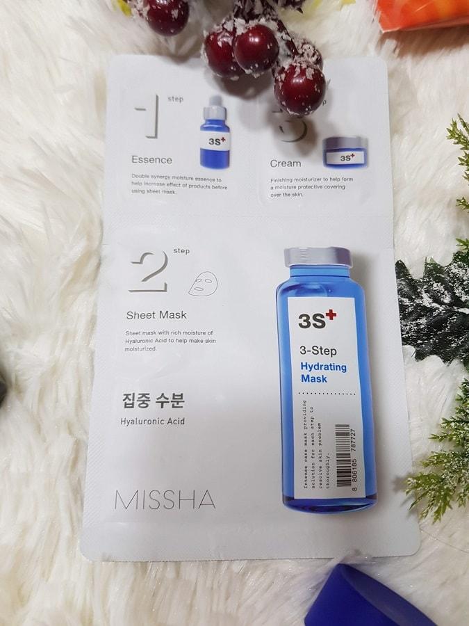 mască de față hidratantă Missha 3-Step