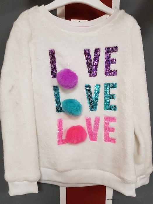 pulover copii Love sclipici PEP&CO