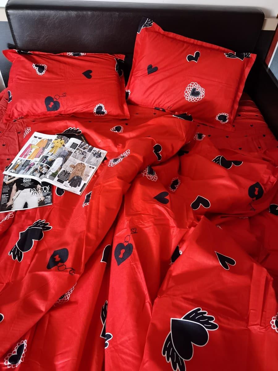 Lenjerie de pat roșie Valentine's Day