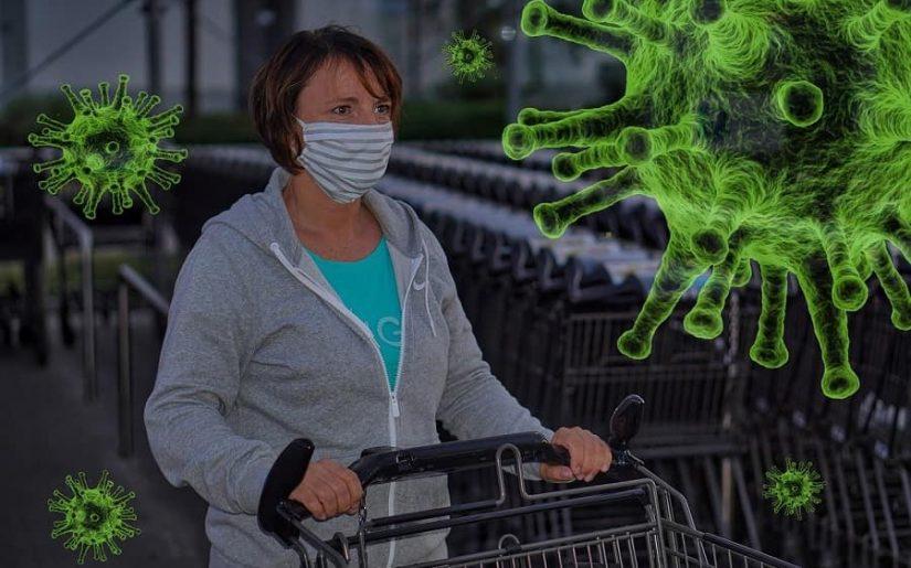 cumpărături în pandemie, distanțare