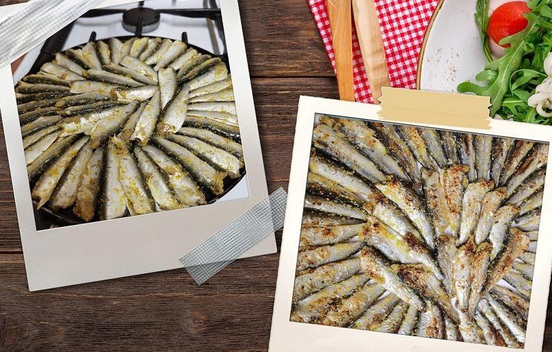pește mic prăjit în doar 2 linguri de ulei